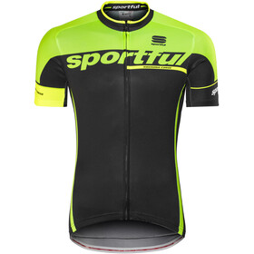 Sportful SC Team Jersey Men black/green fluo/yellow fluo